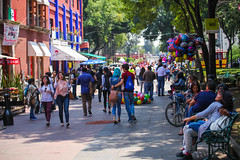 A colorful saturday in Coyoacan (L Urquiza) Tags: street colors coyoacan mexico