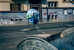 It's a boy (Master Iksi) Tags: street baloon srbija serbia sidewalk streetphotography streetart container baby canon 700d amazing interesting