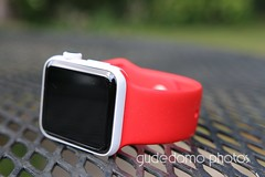 Ceramic Apple Watch with Product RED Sport Band (gudedomo) Tags: apple ceramic watch applewatch white edition watchband band wrist accessory color combination red product 2016 orange yellow mint green bright pink salmon stand blue baby turquoise navy ocean midnight cocoa mocha nylon metal strap link bracelet milanese loop hermes leather