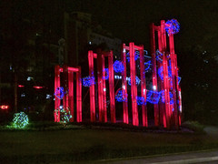 175_Sichuan-160816_75 (Ai@ce) Tags: china sichuan 201608 summer zigong led light lamp monument blue red