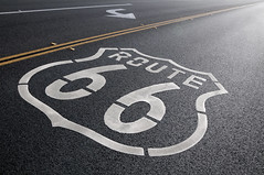 Historic Route 66 turn (Guy dicarlo) Tags: 66 route66 america classic drive famous highway historic legendary motherroad mystock nostalgia nostalgic ontheroad remote road roadtrip texture tourism transport transportation travel usa vacation vintage way wildwest