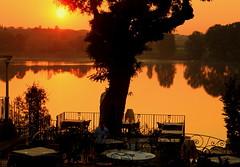 The Golden Sunrise ......... (acwills2014) Tags: sunrise lake orange golden italy italianlakes breakfast silhouette serene tranquil