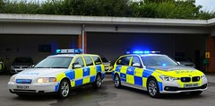 Difference of a Decade (S11 AUN) Tags: cheshire police volvo v70 t5 advanced driver training adt drivingschool pursuit trainer anpr nwmpg northwestmotorwaypolicegroup traffic car rpu roads policing unit 999 emergency vehicle dk55cxy bmw 330d 3series xdrive touring estate dk65ahx