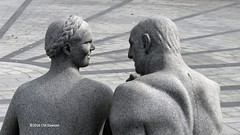 """Man and Woman"" 1917 (Closeup) (Christopher M Dawson) Tags: man woman viking baltic scandinavia homelands travel international foreign tourism adventure history scenery art architecture europe ©2016cmdawson nikon norway oslo capital city sculpture vigeland frogner park frognerparken thorsen statue"