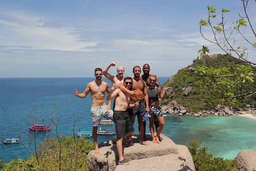 We made it to the top of the mountain of Koh Nang Yuan