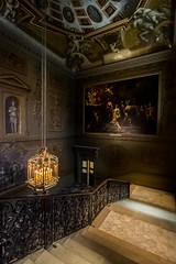Upstairs downstairs (James Waghorn) Tags: sigma1020f456 hamptoncourt summer shadows d7100 palace door england stairs painting mood tourism heritage