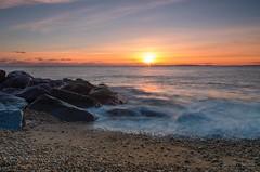 Keyhaven Sunset (Andy.Main) Tags: longexposure sunset sea sun beach coast nikon rocks le nd 1685 d7000 keyhavensunsetfeb2013andymain