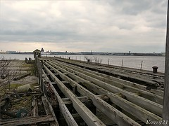 Prince's Landing Stage (kev thomas21) Tags: england water liverpool docks river dock waves waterfront estuary derelict mersey landingstage dockers merseyside 3graces princesdock