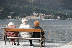 Panchina anziani (BruNet7) Tags: lake como senior bench lago calma lagodicomo anziani panchina contemplazione