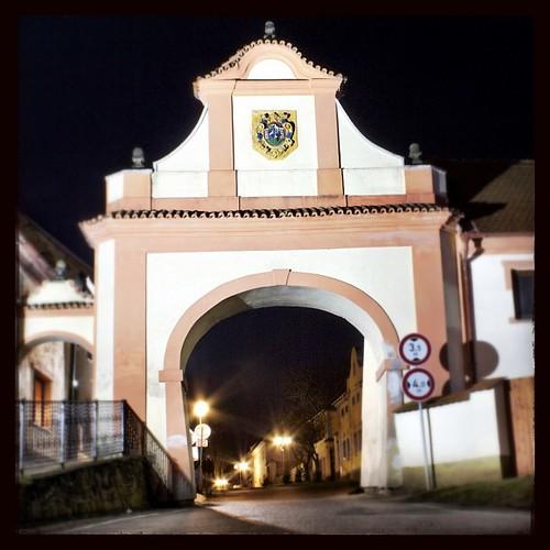 Slánská (Dolejší) brána.