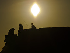 Three fishermen in silouette (Vidar Ringstad,Skedsmo) Tags: sunset sky people sun cold sol nature sunshine oslo norway rock canon dark eos evening norge back spring google europa europe flickr heaven folk natur norwegen himmel guys images silouette 7d backlit gutter scandinavia stein solnedgang bygdy vr huk menn kveld svart solskinn natureshot skandinavia mrk klippe siluett fiskeutstyr motlys naturepic naturbilde kveldsbilde fishingear photographyforrecreation rememberthatmomentlevel1 rememberthatmomentlevel2 vidarringstad