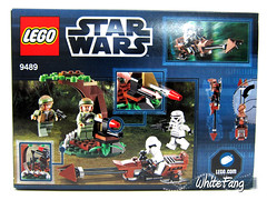 Back view of the original box image of the 9489 Endor Rebel Trooper & Imperial Trooper Battle Pack (WhiteFang (Eurobricks)) Tags: forest star lego troopers sw wars ambush endor battlepack eurobricks