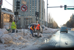 MBTA Workers (cassidyforino) Tags: city winter snow boston nemo massachusetts snowstorm blizzard 2013