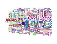 word cloud purple orange green (slompashirt) Tags: wordcloud