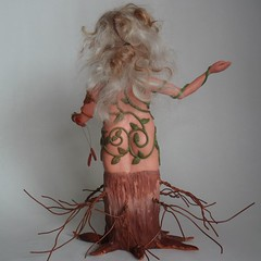 Mother Nature Sculpture back view (CreateMyWorldDesigns) Tags: autumn winter summer sculpture tree fall nature leaves female spring bottle vines branches mother seed polymerclay human fourseasons figure trunk form bud etsy artdoll challenge guild pcagoe