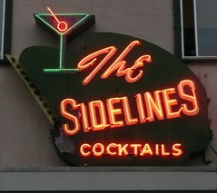 THE SIDELINES ARCATA CA. (ussiwojima) Tags: california sign bar advertising neon lounge cocktail arcata thesidelines