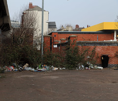 (Conor Burrow) Tags: shopping grim down run bin litter cumbria rubbish barrow furness