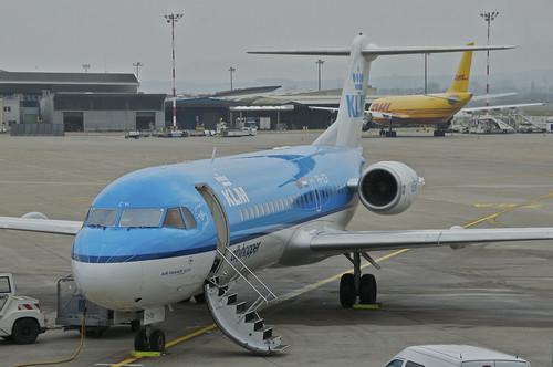 KLM Cityhopper Fokker 70; PH-JCH@BSL;03.04.2013/699ak