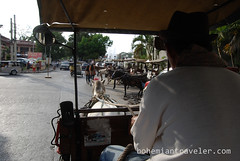 riding a calesa horse drawn cart (BohemianTraveler) Tags: old city horse heritage architecture island town site asia pacific district philippines colonial chinese unesco mexican spanish filipino sur vigan ilocos kalesa luzon calesa mestizo