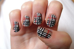 Matte Burberry nails (jana7800) Tags: new city nyc light white snow motion black hot me dark nude design hands pattern top stripes coat nail fingers rules nails essence ruby blackout nailpolish striped matte burberry claires striper nailart rimmel topcoat catrice