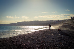 Sunny Afternoon (dirac3000) Tags: blue light sea people sun beach seaside nice mediterranean pebbles