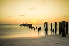 GOLDEN LIGHT (Rober1000x) Tags: new old light sunset sun beach beautiful relax warm florida naples karma oldpier 2013
