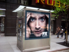 Wilfred - Elijah Wood Newsstand AD 2013 NYC 8573 (Brechtbug) Tags: new wood york city nyc dog jason news man television mystery paper square stand newspaper tv eyes ryan beware ad cable advertisement suit newsstand series times fx imaginary newman elijah wilfred fearless gann 2013 04232013