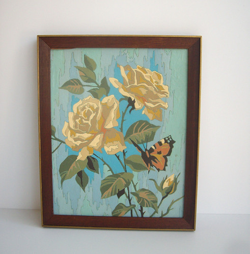 Vintage Paint by Number Roses