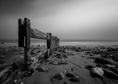 The Ebbing Tide (vulture labs) Tags: wood uk longexposure light sea england blackandwhite bw seascape art water monochrome clouds contrast dark landscape photography mono coast photo sand nikon rocks long exposure angle decay fineart wide monotone monochromatic nd coastline daytime polarizer circular breakwater folkestone lightroom waterscape bwfilter daytimelongexposure neutraldensityfilter nd110 niksoftware d700 silverefex vulturelabs silvereffex2 theebbingtide