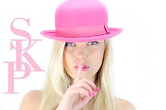 Pink Bowler (Dance while the record spins....) Tags: pink girl beauty hat fashion model style bowlerhat bowler couture pinkbowlerhat