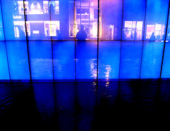 New York City Blues (astoria4u) Tags: new york city nyc water store nightshot manhattan blues midtown storefront handheld feature hollister