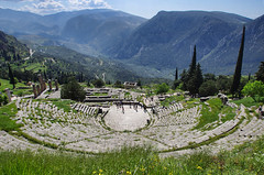 Delphi (n.pantazis) Tags: trees classic nature grass landscape theater delphi culture wideangle greece classical amphitheater apollo civilsation ogps1 pentaxk30