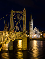 Bridge and Church, Inverness (rsthomas9) Tags: longexposure bridge night river scotland highlands nikon inverness riverness d5100 photographyforrecreation