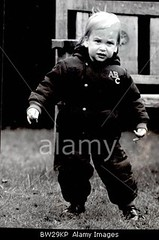 BW29KP (princessdiana1971) Tags: people male gardens walking children for was alone time famous first prince william palace personality british kensington 1983 photographed eighties royalty the in as