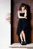 Martina Polopoli n.6 (Riccardo Mollo) Tags: door black muro girl wall model dress porta nero ragazza collana modella vestito necklance