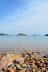 _Limiti Terrestri_ (Gaia.Federico) Tags: sea sky color water island mare stones horizon greece grecia cielo sassi acqua azzurro colori isola orizzonte patmos