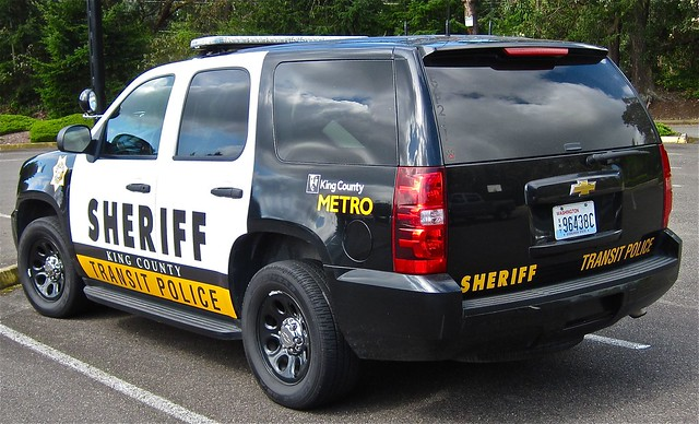 chevrolet metro tahoe police lawenforcement patrolcar emergencyvehicle transitpolice kingcountysheriff kingcountysheriffsoffice
