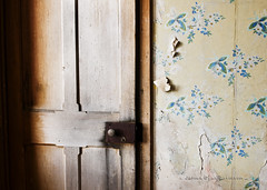 As one door closes. (James_at_Slack) Tags: door wallpaper abandoned handle scotland peeling aberdeenshire derelict ruraldecay decayed doorhandle ruralexploration ardoch glengairn woodeddoor jamesdyasdavidson
