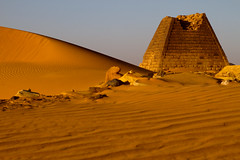 IMG_9156 -  Begrawiya Pyramids (or Meroe) (Stuart Butler / Oceansurf) Tags: africa portrait history tourism sahara temple desert african sudan nile adventure arab egyptian pyramids nubia nubians meroe royalcemetery archeolgical begrawiya kushites