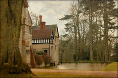 Baddesley Clinton (arizonafriend (100k views)) Tags: trees windows sky house building history texture nature water clouds book memories moat statelyhome nationaltrust shrubs chimneys warwickshire baddesleyclinton abigfave canon60d photographyforrecreation