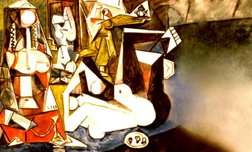 """Odaliscas (Mujeres de Argel) yuxtaposición y deconstrucción de Pablo Picasso (1955), síntesis de Roy Lichtenstein (1963). • <a style=""""font-size:0.8em;"""" href=""""http://www.flickr.com/photos/30735181@N00/8746882295/"""" target=""""_blank"""">View on Flickr</a>"""