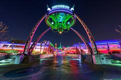 Tomorrowland (TheTimeTheSpace) Tags: colors night reflections stars nikon neon glow disney disneyworld future waltdisneyworld tomorrow tomorrowland hdr magickingdom d800 matthewcooper thetimethespace