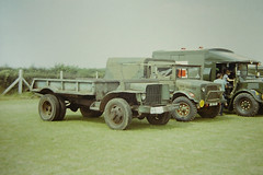 Ford GTB and Bedford MWB. Duxford military vehicle rally 1980's (Richard.Crockett 64) Tags: ford truck bedford lorry ww2 duxford britisharmy gtb usarmy worldwartwo mw imperialwarmuseum militaryvehicle unitedstatesnavy generalservice militaryvehiclerally