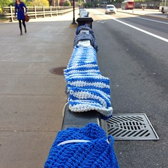 The Rideau Centre yarnbombing is still around! (jfingas) Tags: canada square centre ottawa yarn squareformat railing rideau yarnbombing iphoneography instagramapp uploaded:by=instagram foursquare:venue=4afc9f14f964a520782422e3