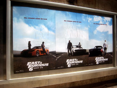 Fast and Furious 6 Billboard ADs  0221 (Brechtbug) Tags: new york city nyc urban 6 cinema cars up car racecar work painting movie poster square this drive smash paint theater driving all action crash near working fast racing billboard advertisement chase billboards worker roads em six lead herald furious 2013