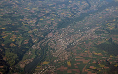 Landshut in Bavaria (roomman) Tags: above morning houses house turkey landscape bayern bavaria early airport transport flight jet aerial transportation airline airbus lh ist lufthansa fra airliner dlh overview speyer luftbild atatrk landshut a321 aereal eddf aisc 2013 yesilkoy airbusa321 airbus321 ltba daisc