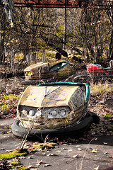 Chernobyl amusement park bumber cars (MoraTilTordis) Tags: park abandoned car amusement radiation ukraine bumper disaster second chernobyl pripyat