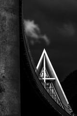 Ishavskatedralen in BnW (strupert) Tags: 70200mm d810 nikon architecture blackandwhite bnw nightphotography bridge church midnightsun northernnorway nordnorge troms ishavskatedralen