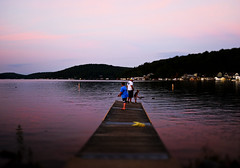 Gone Fishin' (Mark ~ JerseyStyle Photography) Tags: markkrajnak jerseystylephotography nepa pennsylvania august2016 2016 harveyslakepa fujix100t evening