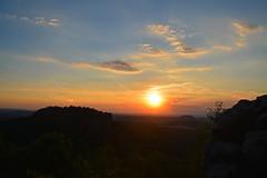 Sunset (Sandsteiner) Tags: sonnenuntergang sunset sommer papststein gohrisch knigstein elbsandsteingebirge sandsteiner
